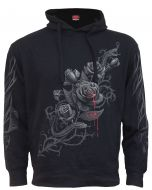 FATAL ATTRACTION SIDE POCKET STITCHED BLACK HOODY