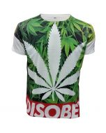 DISOBEY WEED WHITE SUBLIMATION T-SHIRT