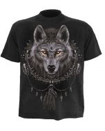 WOLF DREAM - PLUS SIZE BLACK T-SHIRT