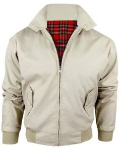 HARRINGTON CREAM BOMBER JACKET