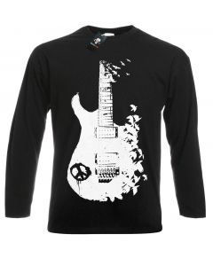 BAND GUITAR  - BLACK LONG SLEEVE T-SHIRT