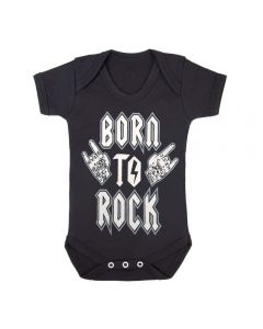 BORN TO ROCK - BLACK BABY GROWS