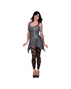 ENSLAVED ANGEL GOTH BOTTOM CAMISOLE  GREY DRESS