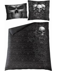 SKULL SCROLL  -DOUBLE DUVET COVER + UK AND EU PILLOW CASE