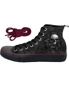 SKULL SCROLL - MEN'S SNEAKERS HIGH TOP LACEUP SHOES