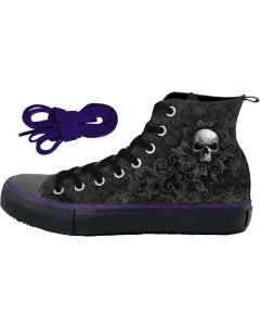 SKULL SCROLL - SNEAKERS LADIES HIGH TOP LACEUP