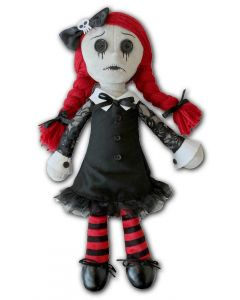 LUNA - THE GOTH RAG DOLL - COLLECTABLE SOFT PLUSH TOY