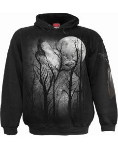 FOREST WOLF - MEN'S BLACK HOODY