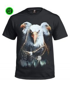 SPIRIT EAGLES- GLOW IN THE DARK BLACK  T-SHIRT