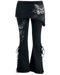 BRIGHT EYES - 2IN1 BOOT-CUT LEGGINGS WITH MICRO SLANT SKIRT