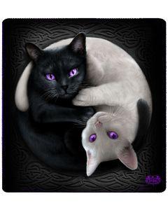 YIN YANG CATS - JUMBO FLEECE BLANKET WITH DOUBE SIDED PRINT