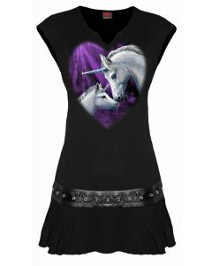 SACRED LOVE - STUDWAIST BLACK DRESS