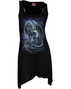 PROTECTOR OF MAGIC - GOTH BOTTOM CAMISOLE BLACK DRESS