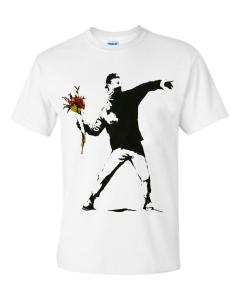 FLOWER THROWER - WHITE T-SHIRT