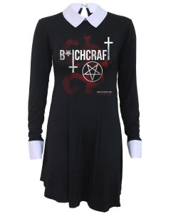 COVEN - BITCHCRAFT - AMERICAN HORROR STORY CROCHET PETERPAN COLLAR BABY DOLL DRESS