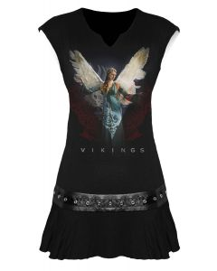 OFFICIALLY LICENSED VIKINGS - ANGEL-VIKINGS STUD WAIST DRESS