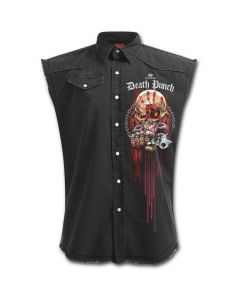 OFFICIAL FIVE FINGER DEATH PUNCH - ASSASSIN - STONE WASHED BLACK WORKER