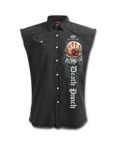 OFFICIAL FIVE FINGER DEATH PUNCH - GAME OVER - STONE WASHED BLACK WORKER