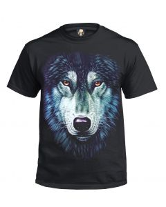 GREEN WOLF - BLACK SUBLIMATION T-SHIRT