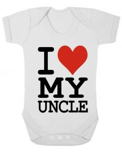 I LOVE MY UNCLE - WHITE BABY GROWS