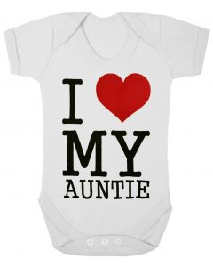 I LOVE MY AUNTIE - WHITE BABY GROWS