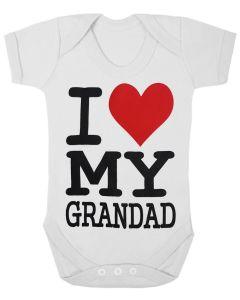 I LOVE MY GRANDAD - WHITE BABY GROWS