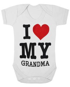 I LOVE MY GRANDMA - WHITE BABY GROWS