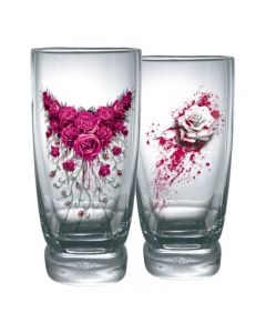 BLOOD ROSE WATER GLASSES SET OF 2