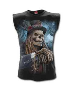 VOODOO CATCHER BLACK SLEEVELESS T-SHIRT