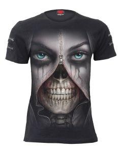 ZIPPED - TWIN ZIPPER SLEEVE FASHION TEE- T-Shirt