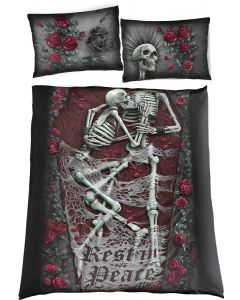 REST IN PEACE - DOUBLE ONE PRINT BEDLINEN + 2X UK PILLOWS