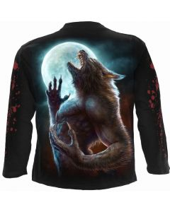 WILD MOON - BLACK LONG SLEEVE T-SHIRT