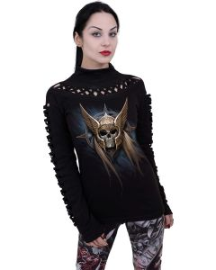 ANGEL WARRIOR - WATERFALL SLITS LONG SLEEVE TOP