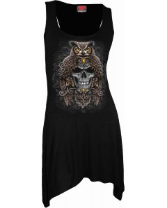 DEATH WISDOM - GOTH BOTTOM VEST BLACK DRESS