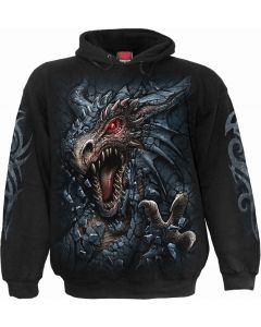 DRAGON'S LAIR - MEN'S BLACK HOODY