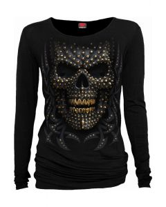 BLACK GOLD - LONG SLEEVE BLACK TOP