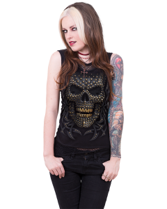 BLACK GOLD - 2in1 NECK TIE MESH BLACK TOP