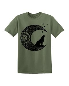 HOWLING WOLF MOON - OLIVE  T SHIRT