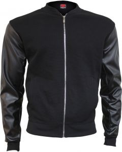 SPIRAL URBAN FASHION BLACK BOMBER JACKET