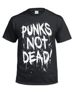 PUNKS IS NOT DEAD - BLACK T-SHIRT