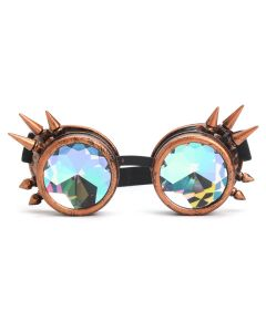 KALEIDOSCOPE WELDING CYBER GOGGLES WITH SPIKES - RED COPPER