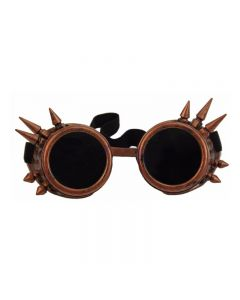 DARKWEAR WELDING CYBER GOGGLES WITH SPIKES - RED COPPER