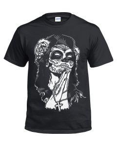 MEXICAN SKULL - BLACK T-SHIRT