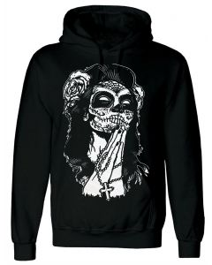 MEXICAN SKULL - MEN'S BLACK HOODY
