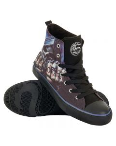 GAME OVER MEN'S SNEAKERS HIGH TOP LACEUP
