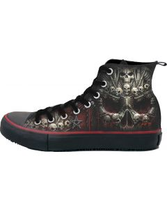DEATH BONES MEN'S SNEAKERS HIGH TOP LACEUP