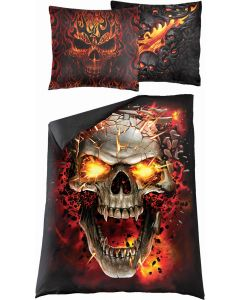SKULL BLAST -DOUBLE DUVET COVER + UK AND EU PILLOW CASE
