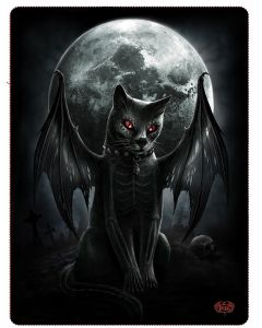 VAMP CAT - FLEECE BLANKET WITH DOUBLE SIDED PRINT