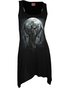 VAMP CAT - GOTH BOTTOM VEST BLACK DRESS