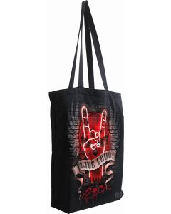 LIVE LOUD - BAG 4 LIFE - CANVAS 80Z LONG HANDLE TOTE BAG